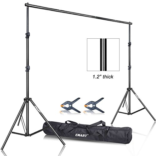 Emart Photo Video Studio 9.2 x 10ft Heavy Duty Background Stand Backdrop Support System Kit with Carry Bag for Photography from EMART