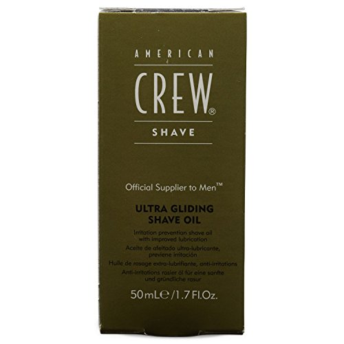 AMERICAN CREW Ultra Gliding Shave Oil, 1.7 Ounce
