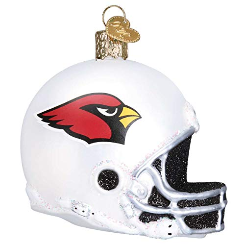 Personalized Arizona Cardinals Helmet Glass Blown Christmas Ornament for Tree by Old World Christmas