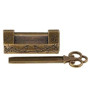 Homyl Candado Llave para Maleta Vintage de Aleación Zinc Decoración para Caja de Almacenamiento Gabinete -