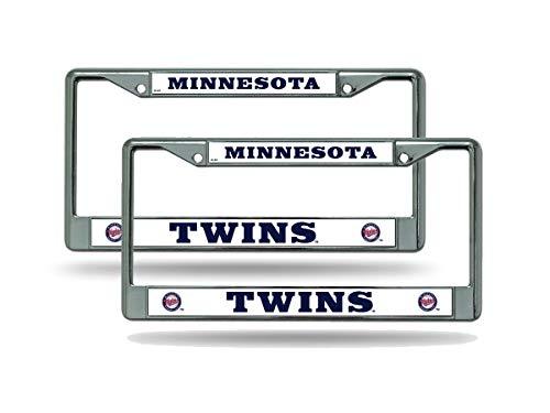 Rico Minnesota Twins MLB (Set of 2) Chrome Metal License Plate Frames