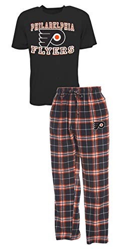 Concepts Sport Philadelphia Flyers NHL Great Duo Men's T-Shirt & Flannel Pajama Sleep Set from Concepts Sport