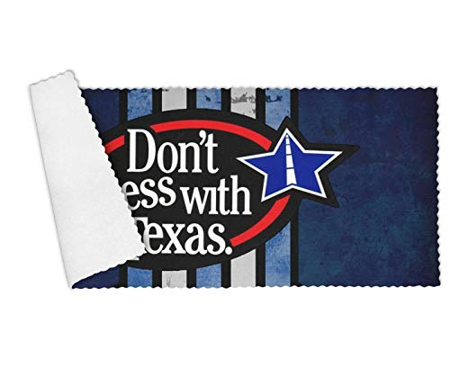 Floowyerion Highly Absorbent Bar Towels & Napkins Towels Don't Mess with Texas Star Logo Kitchen Dish Towel Set of 3,12 x 27 in - Brigham University Young Fabric