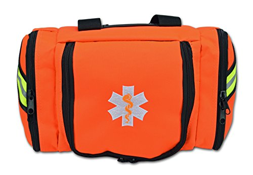 Lightning X Value Compact Medic First Responder EMS/EMT Stocked Trauma Bag w/Standard Fill Kit B - Orange by Lightning X Products (Image #2)