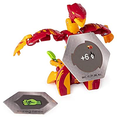 Bakugan Ultra, Pyrus Serpenteze, 3-inch Collectible Action Figure and Trading Card, for Ages 6 and Up, Multicolor (6052008): Toys & Games