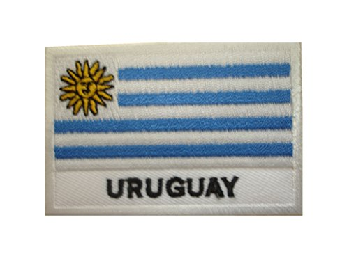 URUGUAY Flag Iron On Patch * Lot of 2 pieces * Applique Motif Country Decal 2.7 x 1.9 inches (7 x 4.8 (Uruguay Flag Patch)