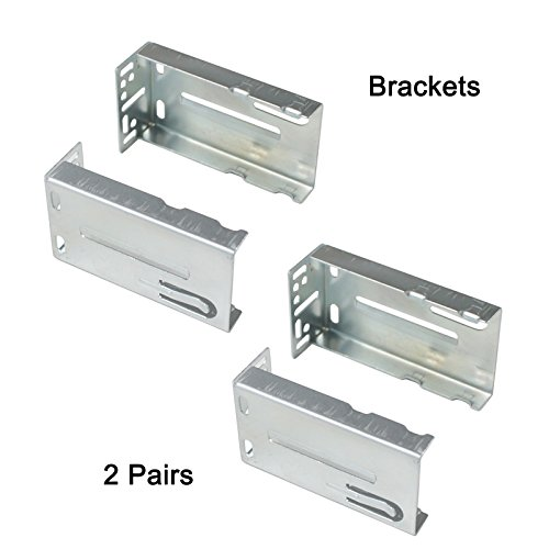 Gobrico Heavy Duty 45mm-Wide Rear/Side Mount Brackets for Drawer Slides-2Pairs(4Pcs)