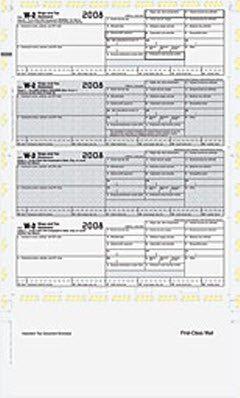 EGP W-2 4-up bottom stub EZ fold - IRS Approved