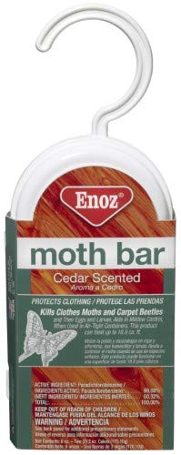 Enoz Moth Bar, Cedar. 2 Ct. (Pack of 36)