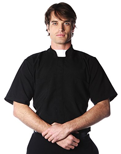 Short Sleeve Priest Shirt Costume - XX-Large - Chest Size 48-50 ()
