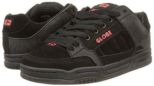 Do Sapatos Homens Dos Botas Skate De Globo De Tênis Pretos Camurça Inclinação Vermelho ga8nx5q