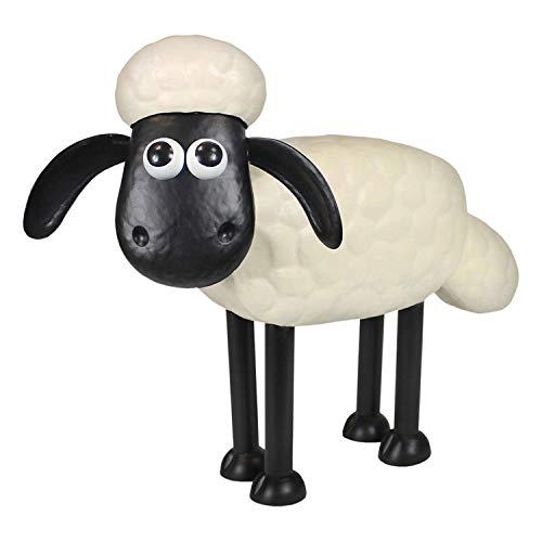 A. Perry Shaun The Sheep & Cousin Timmy Garden Sculptures - Steel Lawn Ornaments Garden Outdoor Decor Wallace & Gromit - Shaun