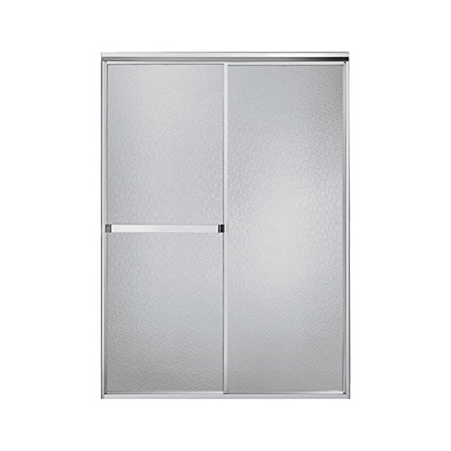 Sterling 660B/SP-46S Standard By-Pass Shower Door, Silver with Crystal Clear Glass