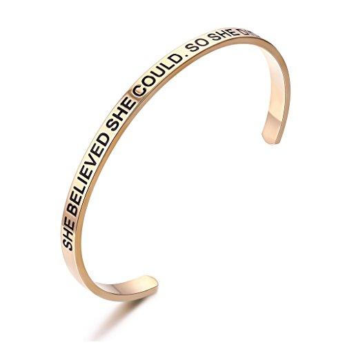 lavumo she believed she could so she did bracelet inspirational