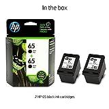 HP 65 Black Original Ink Cartridge (N9K02AN), 2 Cartridges (1VU22AN) for HP DeskJet 2624 2652 2655 3722 3752 3755 3758