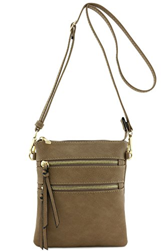 Functional Multi Pocket Crossbody Bag (Stone)