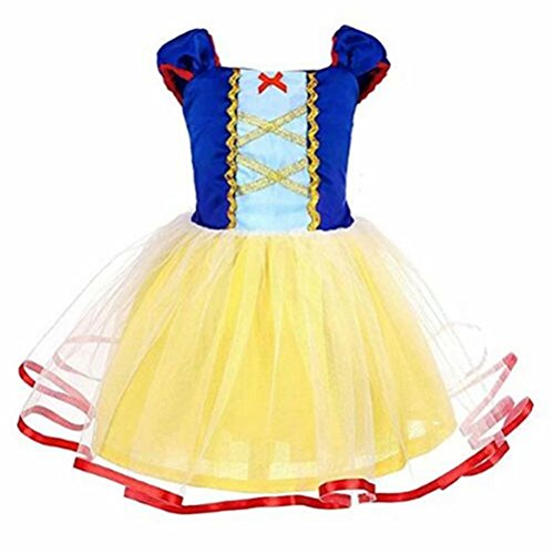 Tsyllyp Girls Snow White Princess Dress Nightgowns Halloween Party -