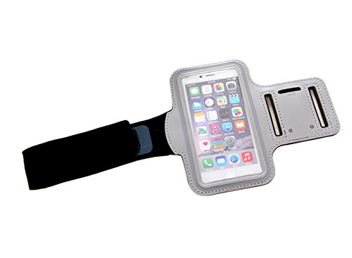 for Apple iPhone Cellphone 6/6S, iPhone 7 [4.7 inch] Sports Armbands,Gravydeals Premium Fashion Flexible Sports Running Armband Key Holder Case - Silver ()