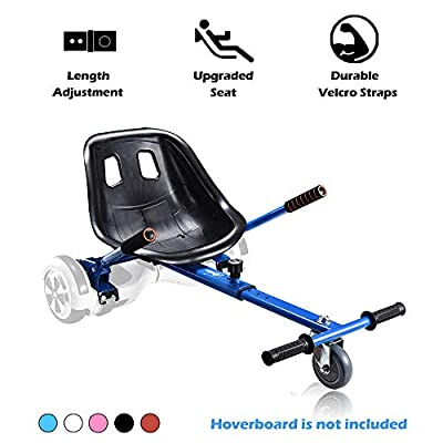 Go Kart Hoverboard Seat Attachment Accessories Hover Board Cart for Adults Kids Self Balancing Scooter Compatible with 6.5'' 8'' 10'' Adjustable Seat Frame, Blue : Sports & Outdoors