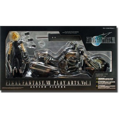 Cloud Strife Trading Arts - Final Fantasy VII Cloud Strife & Hardy Daytona Action Figure Deluxe Set