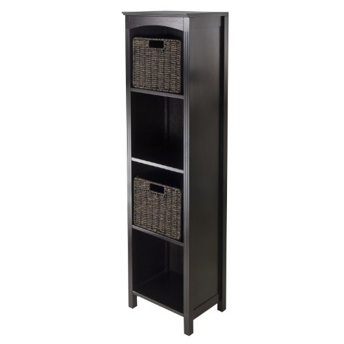 Review Winsome Terrace 3-Piece Storage Shelf/Bookcase, 14.5 by 11.8 by 56-Inch By Winsome by Winsome