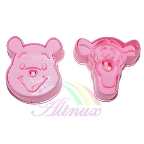 Generic 2pcs Pooh & tigger cookie cutter Fondant Cake Chocolate Mould crafts Tools (Winnie Crafts The Pooh)
