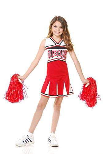 Charades Girls' Glee Club Cheerleader Costume, X-Small