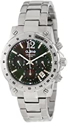 a_line Women's AL-80020-11MOP Liebe Chronograph Black Mother-Of-Pearl Dial Stainless Steel Watch
