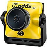 Caddx FPV Camera, Turbo Micro S1 FPV Came 1/3 CCD Sensor 600TVL 2.1mm IR Blocked NTSC DC 5V-40V Wide Voltage for FPV Racing Drone, Yellow