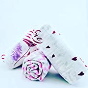 Baby Swaddle Blankets for Girls, Newborn, Wrap 3pc with Floral, Zigzag, Love Patterns