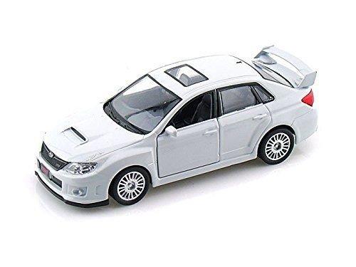 1:36 Scale Subaru WRX STI Race Diecast Model Car Toys Pull Back action White Wrx Sti Race
