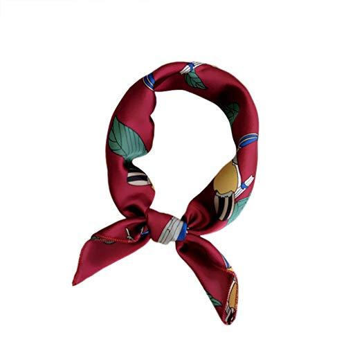 HYIRI Light Soft Fashion Women Square Head Scarf Wraps Scarves Printed Kerchief Neck Scarf -