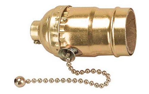 Leviton Electrolier Socket - Leviton 835-19980-PG Pull Chain Socket