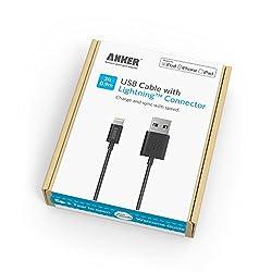 【Apple認証 (Made for iPhone取得)】Anker® プレミアムライトニングUSBケーブル iPhone 6 / 5 / iPad Air / iPad mini 用 コンパクト端子 ブラック 63ANMFILTN-3BA