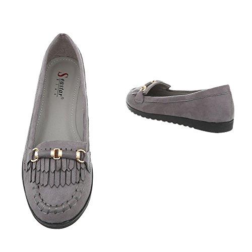 para TS11 gris holgazanes mujer Zapatillas Ital planas Design BHvxqw