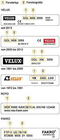 Creme VICTORIA M Dachfensterrollo passend f/ür Velux Dachfester//verdunkelndes Rollo//GPL M08