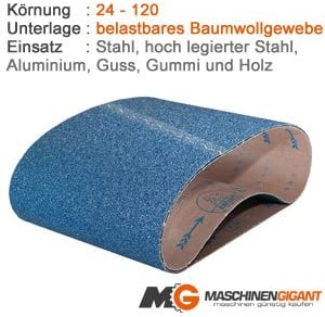 Made in Germany Holz Lack 100 x 1500 mm Korn 100 3 Gewebe Schleifb/änder f/ür Metall