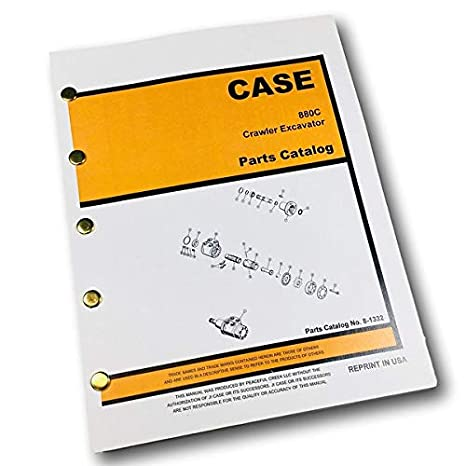 Amazon com: Case 880C Crawler Track Excavator Parts Manual Catalog