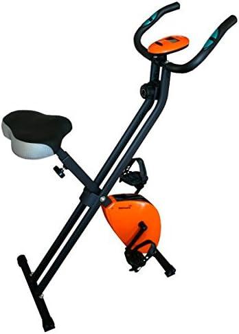 Softee 0030180 Bicicleta estática Plegable, Unisex, Negro/Naranja ...