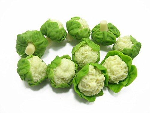 10 Loose Cauliflower Vegetables Barbie Miniatures Kitchen 12222