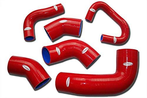 TT Racing Red Silicone Intercooler Hose Kit for Mitsubishi LANCER Evo 7 Evo 8 CT9A Turbo 4G63 TT1462RE