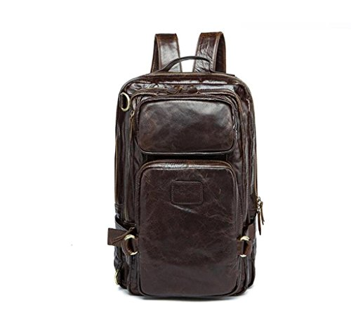 multifunctional School Man Bag travel Bag Leather Shoulder Men's retro Casual Bag Bao Bag 3 messenger 7T8wqx