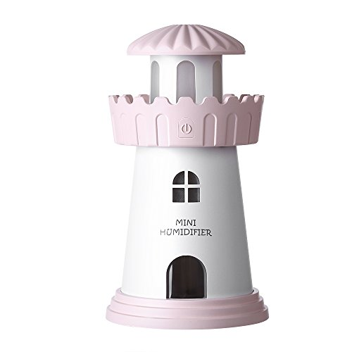 Cool Mist Humidifier,Ayans 150ML Mini Lighthouse USB Air Purifier Humidifiers with LED Night Light for Car,Home,Office,Bedroom,Living Room by Ayans (Image #1)