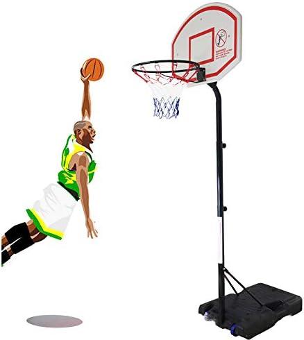 屋外用バスケットボールフープ、大人のための車輪付き可動バスケットボールスタンド、高さ調節190〜310センチメートルフープ直径48センチメートルテレスコピックバックボードを立ち