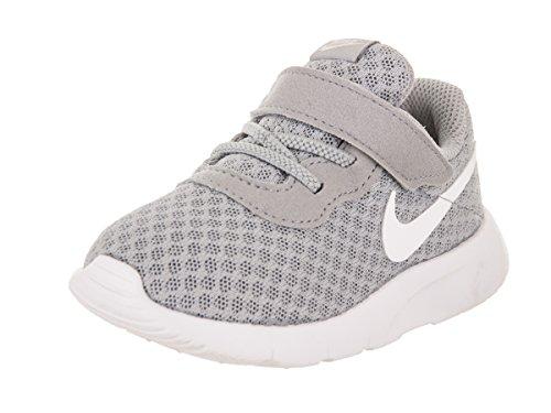 NIKE Boy's Tanjun (TDV) Running Shoes (8 Toddler M, Wolf Grey/White-White)
