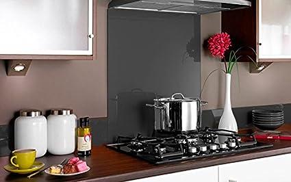 PANEL DE VIDRIO para cocina en COLOR GRIS 90x55 (89,8cm x 54,