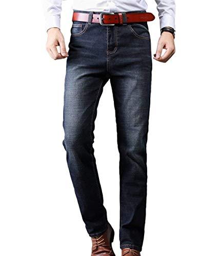 Mezclilla 1 Blau Battercake Pantalones Hombre Cómodo Para De Strech Straight Stretch Pants Denim Business Jeans ppUEgS