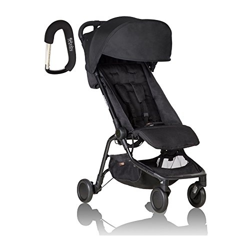 2017 Mountain Buggy Nano Stroller - FREE BABY GEAR XPO STROLLER HOOK WITH PURCHASE (Black)