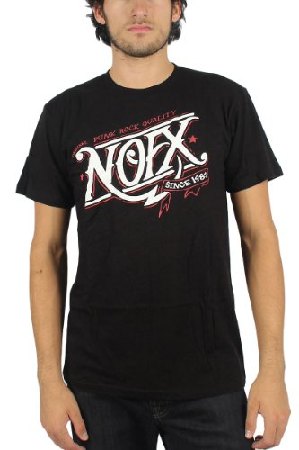 NOFX - Mens Buzz T-Shirt in Black, Size: Large, Color: Black