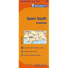 Michelin Spain: South, Andalucia / Espagne: Sud, Andalousie Map 578